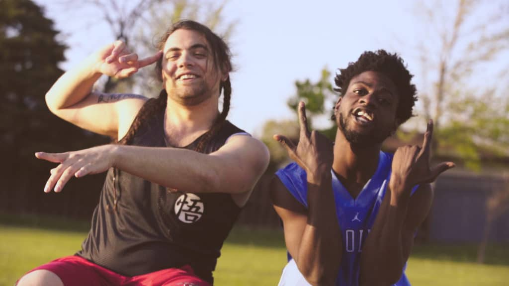 E.U. Afool and Thoby G in their music video Do It